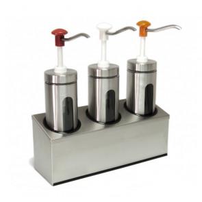 Dosatore con Pompa in Plastica Triplo DIS-D3 - Capacità Lt 6