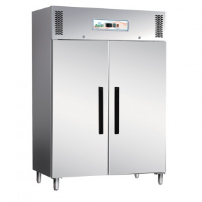 Armadio Frigorifero ECV1200TN 2 Ante in Acciaio Aisi 403 - Refrigerazione Ventilata - Lt 1173 - Temperatura -2° +8° C