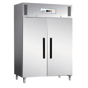Armadio Congelatore ECV1200BT 2 Ante in Acciaio Aisi 403 - Refrigerazione Ventilata - Lt 1173 - Temperatura -18° -20° C