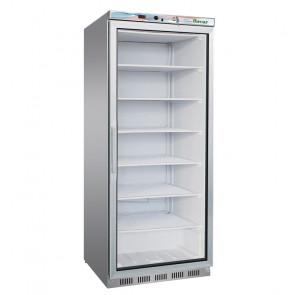 Congelatore per Ristorante EF600GSS Lt 555 in Acciaio Inox con Porta in Vetro - Temperatura -18° -22° C