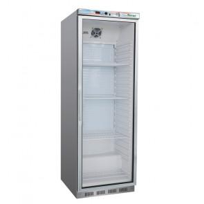 Armadio Refrigerato ER400GSS con Porta in Vetro 350 Lt - Temperatura +2° +8° C