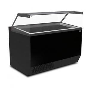 Banco Pozzetto per Gelati - Plexiglass Panoramico - Capacità Vaschette 7 + 15