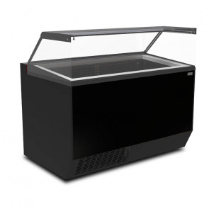 Banco Pozzetto per Gelati - Plexiglass Panoramico - Capacità Vaschette 10 + 20