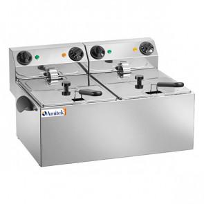 Friggitrice Elettrica da Banco FE88 - 2 Vasche da 6 Litri
