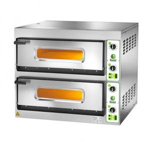 Forno Elettrico per Pizza Doppia Camera - 4 + 4 Pizze - Cm. 90 x 78,5 x 75 h