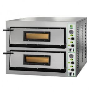 Forno Elettrico per Pizza Doppia Camera - 4 + 4 Pizze - Cm. 101 x 85 x 75 h