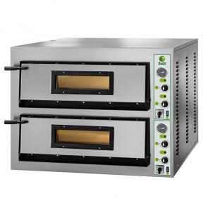 Forno Elettrico per Pizza Doppia Camera  - 6 + 6 Pizze - Cm. 101 x 121 x 75 h