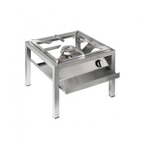 Fornellone Professionale in Acciaio Inox per Uso Interno o Esterno - GPL o Gas Metano