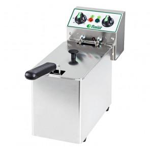 Friggitrice da Banco FR4 Vasca Singola - Acciaio Inox AISI 304 - Capacità Lt 4 - Prod Oraria 4,5 Kg/h