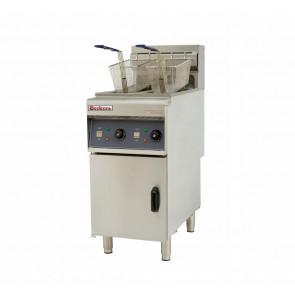 Friggitrice Elettrica su Mobile - 2 Vasche - Capacità Vasca 10 Lt