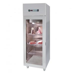 Armadio Refrigerato Ventilato per Frollatura Carne - Porta Vetro - Temp. -2° +4° C - Lt 500