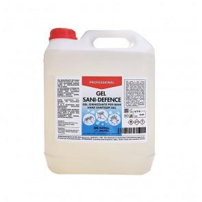 Tanica 5 Litri Gel Igienizzante Mani SaniDefence Alcool 65-70% ideale per Ricarica