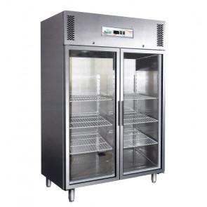 Armadio Refrigerato Ventilato GN1410TNG 2 Ante in Vetro - Lt 1325 - Temp. -2° +8° C