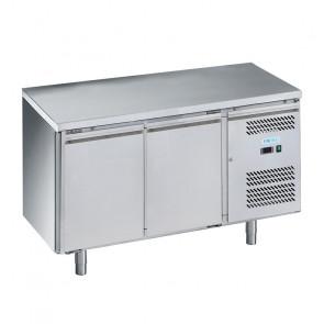 Tavolo Refrigerato Ventilato 2 Porte - Temp -2° +8°C - Capacità Lt 282