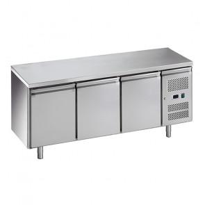 Banco Refrigerato Ventilato 3 Porte - Temp -2° +8°C - Capacità Lt 417