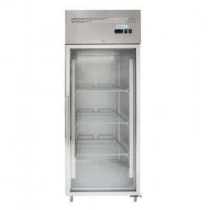 Armadio Freezer GN 2/1 Ventilato - Porta a Vetro - Capacità Lt 650