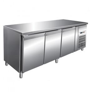Tavolo Refrigerato 3 Porte profondità 70, GN 1/1 Temperatura -2° +8°C - Capacità Lt 417