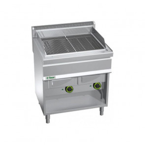 Griglia a Gas Armadiata GW80 - Vaschetta Acqua - Piano Cm 70,8 x 50