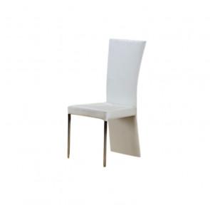 Sedia in Ecopelle con Gonna e Gambe in Acciaio - King - Cm 48 x 42 x 96 h