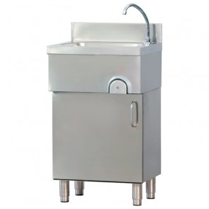 Lavamani Inox su Mobile con Comando a Ginocchio - Dimensione Cm 50 x 40