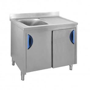 Lavatoio con Mobile 1 Vasca + Sgocciolatoio Destro, Profondità 70