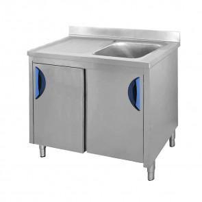 Lavatoio con Mobile 1 Vasca + Sgocciolatoio Sinistro, Profondità 70