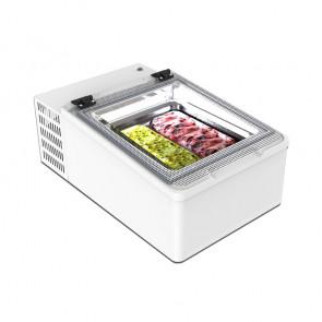 Frigorifero da Banco Refrigerato per Gelati Mantecati - 2 Vasche