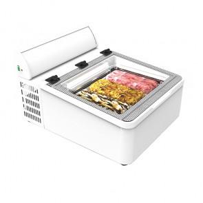 Frigorifero da Banco Refrigerato per Gelato Mantecato - 3 Vasche
