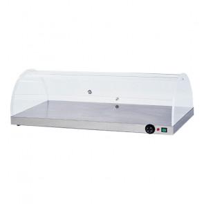 Piano Caldo Inox AISI 304 con Cupola in Plexiglass Semicircolare PCC4710