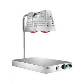Lampade Infrarossi a Fungo con Piano Caldo - Piano Inox Cm 60 x 40 - N° 2 Lampade