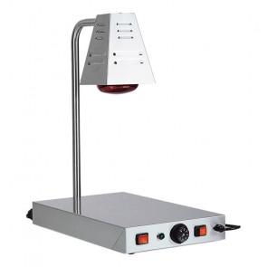 Lampada Infrarossi a Fungo con Piano Caldo - Piano Inox Cm 58 x 33 - N° 1 Lampada