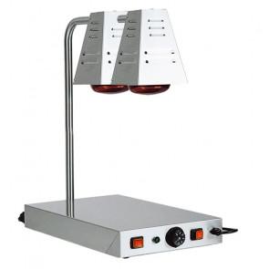 Lampade Infrarossi a Fungo con Piano Caldo - Piano Inox Cm 58 x 33 - N° 2 Lampada
