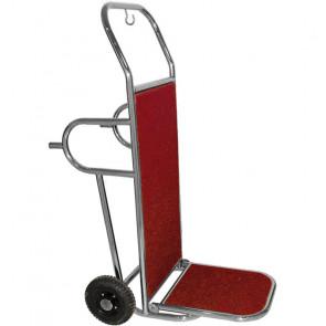 Carrello Porta Valigie per Trasporto Rapido con Maniglie - Ottonato o Cromato - Portata Max Kg 100