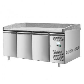 Banco Refrigerato per Pizza - 3 Porte - Cm. 202 x 80 x 100 h