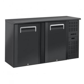 Banco Bar Refrigerato Ventilato in Acciaio a 2 Porte Battenti - Capacità Lt 315
