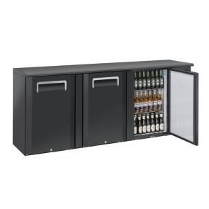Banco Bar Refrigerato Ventilato in Acciaio a 3 Porte Battenti - Capacità Lt 500
