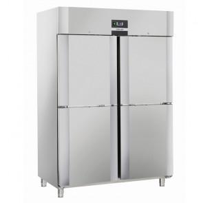 Armadio Refrigerato Ventilato Porta Doppia a 4 Ante QRM14 -2° +8°C GN 2/1