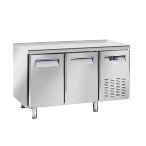 Tavolo Refrigerato Ventilato per Gastronomia 2 Porte - Profondità Cm 60 - Capacità Lt 230