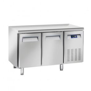 Tavolo Refrigerato Ventilato per Gastronomia 2 Porte - Profondità Cm 70 - Capacità Lt 260