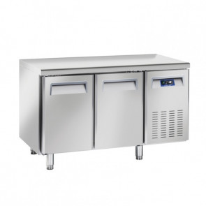 Tavolo Refrigerato Ventilato per Pasticceria e Pizzeria 2 Porte - Profondità Cm 80 - Capacità Lt 430