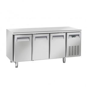 Tavolo Refrigerato Ventilato per Gastronomia 3 Porte - Profondità Cm 60 - Capacità Lt 358