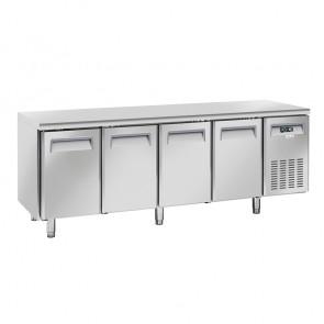 Tavolo Refrigerato Ventilato per Gastronomia 4 Porte - Profondità Cm 60 - Capacità Lt 485
