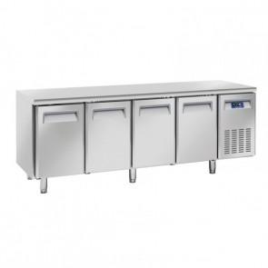 Tavolo Refrigerato Ventilato per Pasticceria e Pizzeria 4 Porte - Profondità Cm 80 - Capacità Lt 745