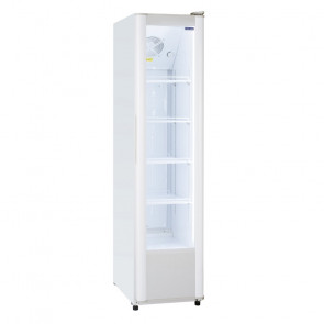 Armadio Refrigerato Verticale in Acciaio per Bibite - Porta Vetro - Capacità Lt 300 - Temperatura +2° +8° C