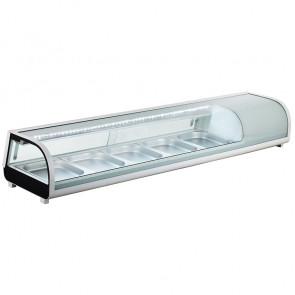 Vetrina Refrigerata Statica Sushi - N°8 GN1/3 - Temperatura 0° +12° C