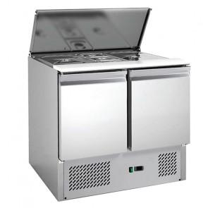 Saladette Refrigerata Statica - 2 Porte - Capacità Bacinelle 2 GN1/1 + 3 GN1/6