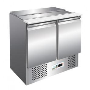 Saladette Refrigerata per Insalate S900 con Porta Bacinelle 2 GN1/1 + 3 GN1/6 - Temp +2° +8° C