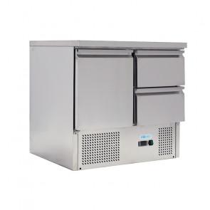 Saladette Statica per Insalate GN1/1 - 1 Anta 2 Cassetti - Capacità Lt 230