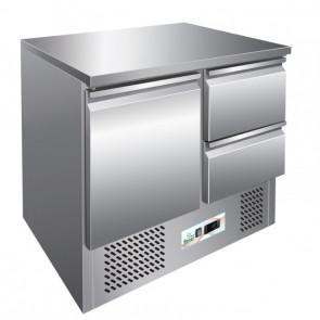 Saladette Refrigerata S901-2D 1 Porta + 2 Cassetti Cm 90 x 70 x 87 h - Temp. +2° +8°