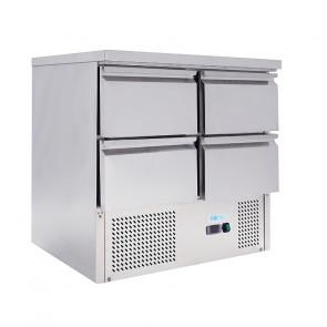 Saladette Statica per Insalate GN1/1 - 4 Cassetti - Capacità Lt 220